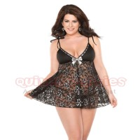 Black and Silver Babydoll